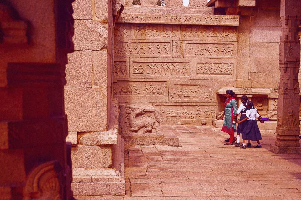 Wall panels in Hampi