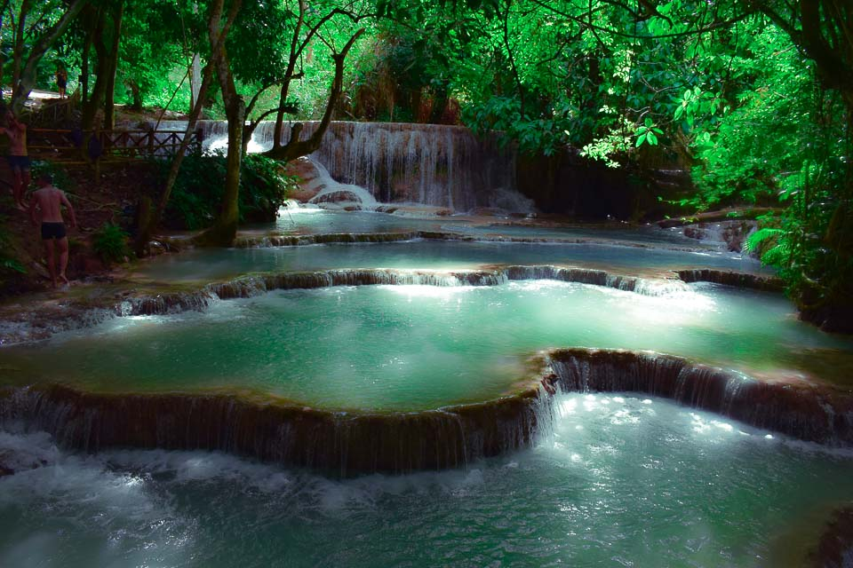 kuang si waterfall: Most beautiful waterfall in laos