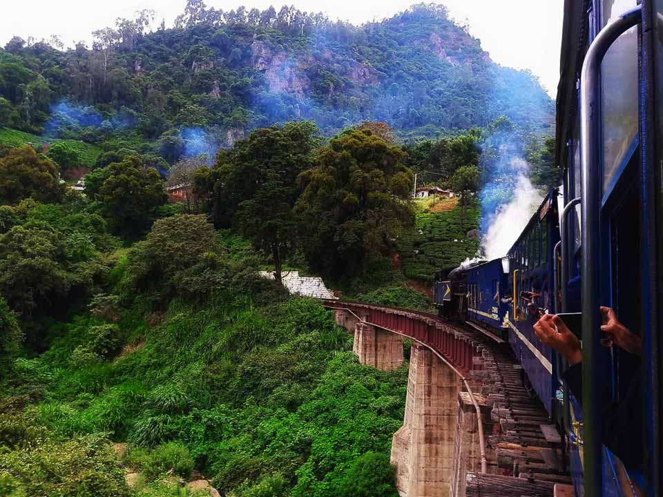 Most beautiful train journeys in India: view from Himalayan train journey
