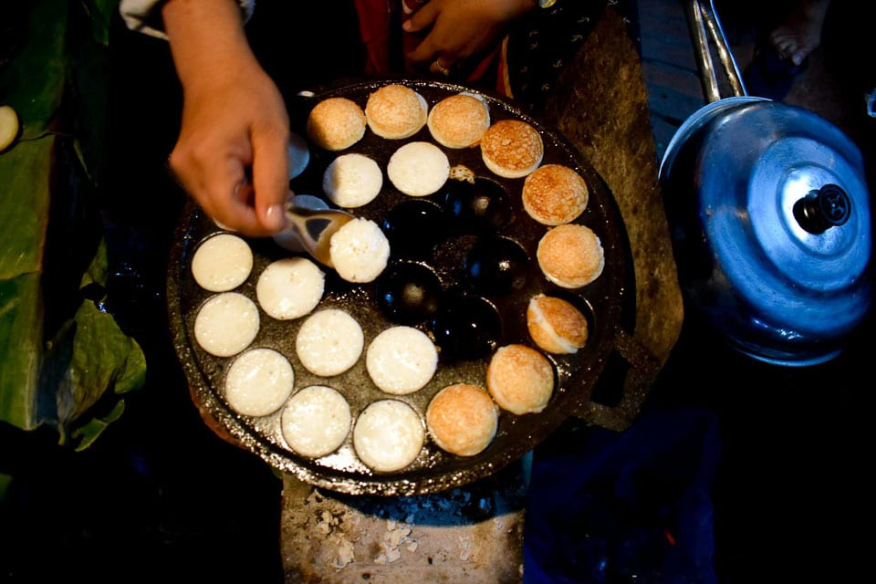 Coconut pancake at Luang Prabang night Market