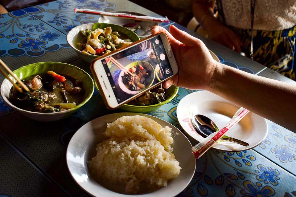 Local foodwalk in Luang Prabang Laos