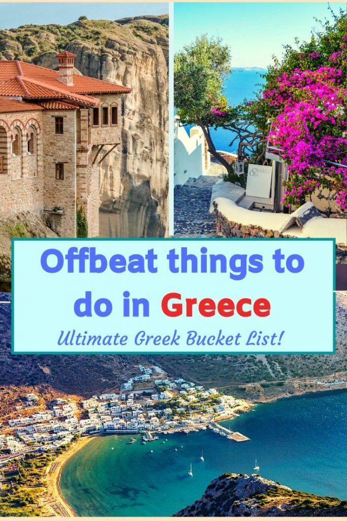 Planning a visit to greece for summer and planning to explore offbeat travel destinations in Greece? Here are the best Greek islands where tourist footfall is still less. 20 best Greek islands and natural places with culture, history and great food. #greece #destinations #offbeatgreece 3europe #bestthingstodoingreece #placestovisitingreece