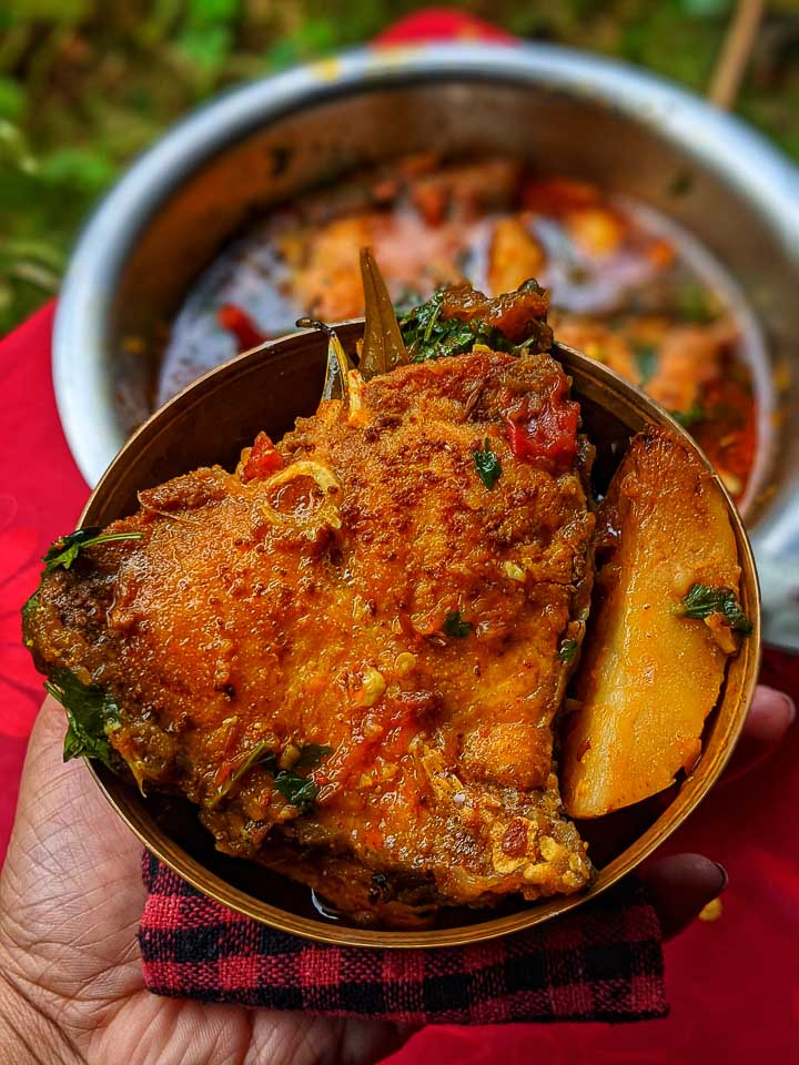 Not Your Regular Katla Macher Jhol (Bengali Style Katla Fish Curry)