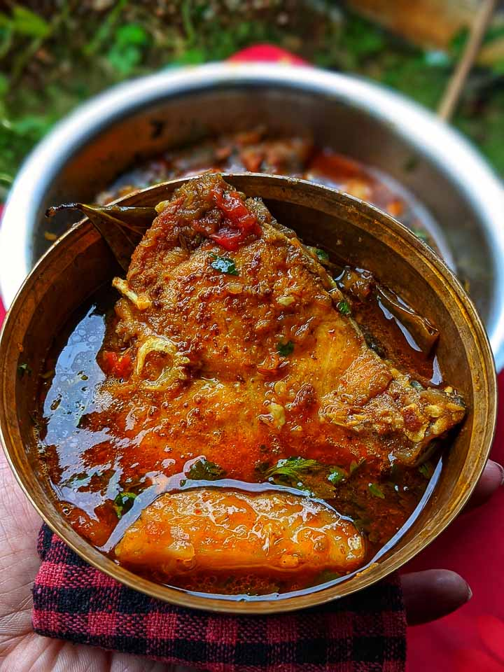 Gorom Masala diye Katla macher jhol: bengali style fish curry