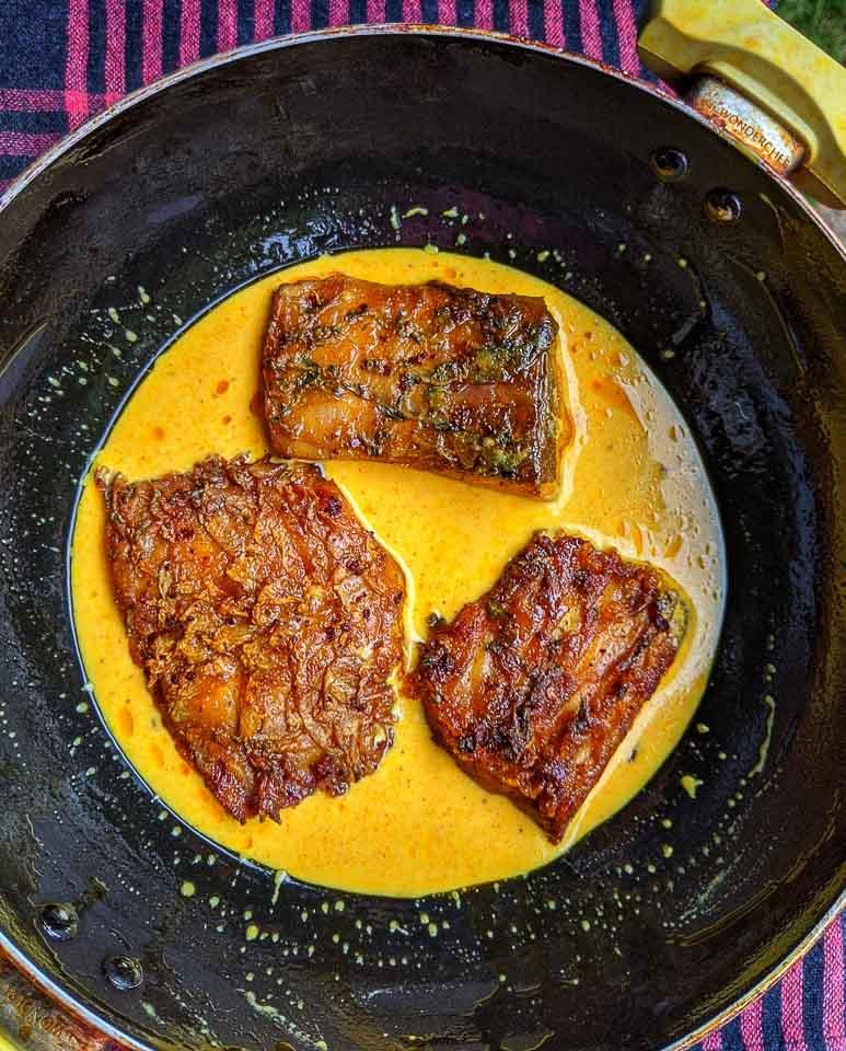 Steamed Katla Fish