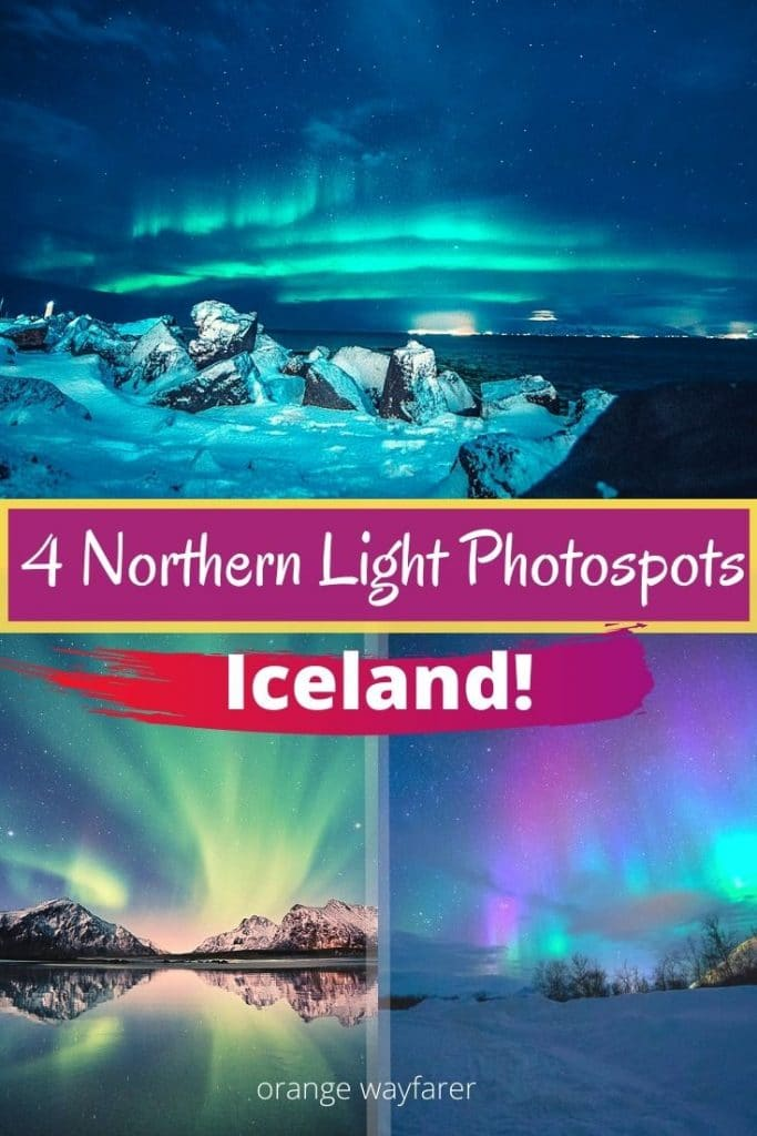 Places to visit in Iceland. Northern light in Iceland. Photography in Iceland. Iceland Northern Light Photo-spots. Bucket list travel destination in Europe. Most beautiful natural spots in Iceland and Europe.  #iceland  #northernlight #europe