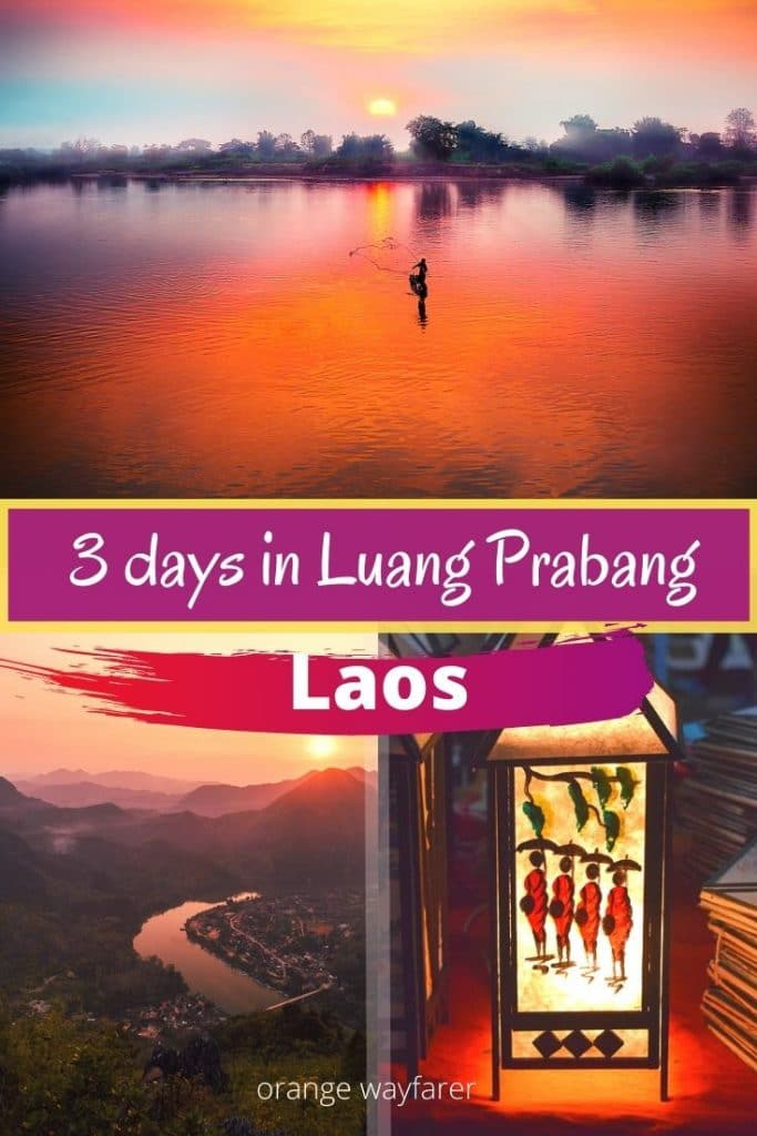 Luang Prabang is a UNESCO world heritage site. 3 to 5 days in Luang Prabang is a decent amount of time to explore this old town of Laos with intense cultural heritage. There are plenty of things to do in Luang Prabang. Some of them are romantic. Night market is famous for shopping. Mekong river has an amazing boat ride. You can also take a day trip to Kuang Si waterfall. #luangprabang #laos #offbeatdestinations #southeastasia #thingstodoinluangprabang