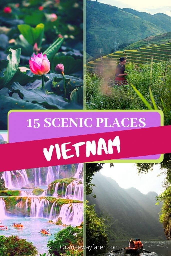 Most beautiful and scenic places to Visit in Vietnam. these Vietnam destinations are located from North to SOuth of the country. SOme of them are off the regular tourist trail in Vietnam. #vietnam #vietnamtravel #vietnamdestinations I have curated a list of 15 most beautiful places to visit in Vietnam for the cultural traveler.