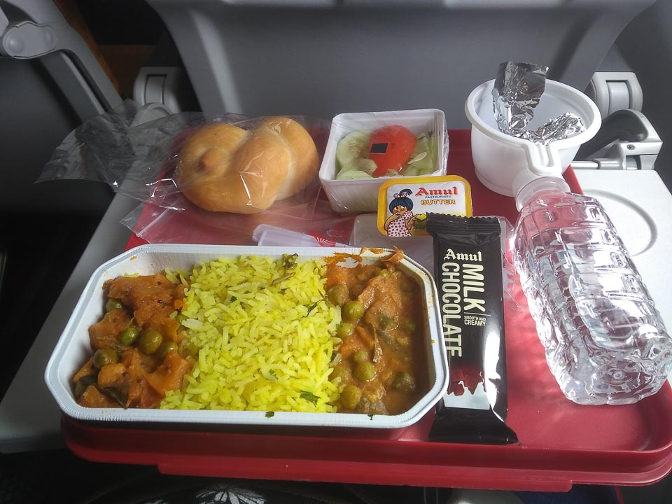 l served by Air Indian economy flight from Bhubaneswar to Suvarnabhumi Bangkok