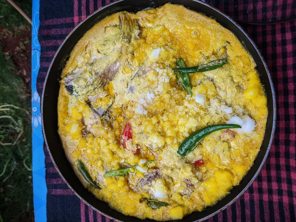 Bhapa Ilish SHorshe without a pressure cooker