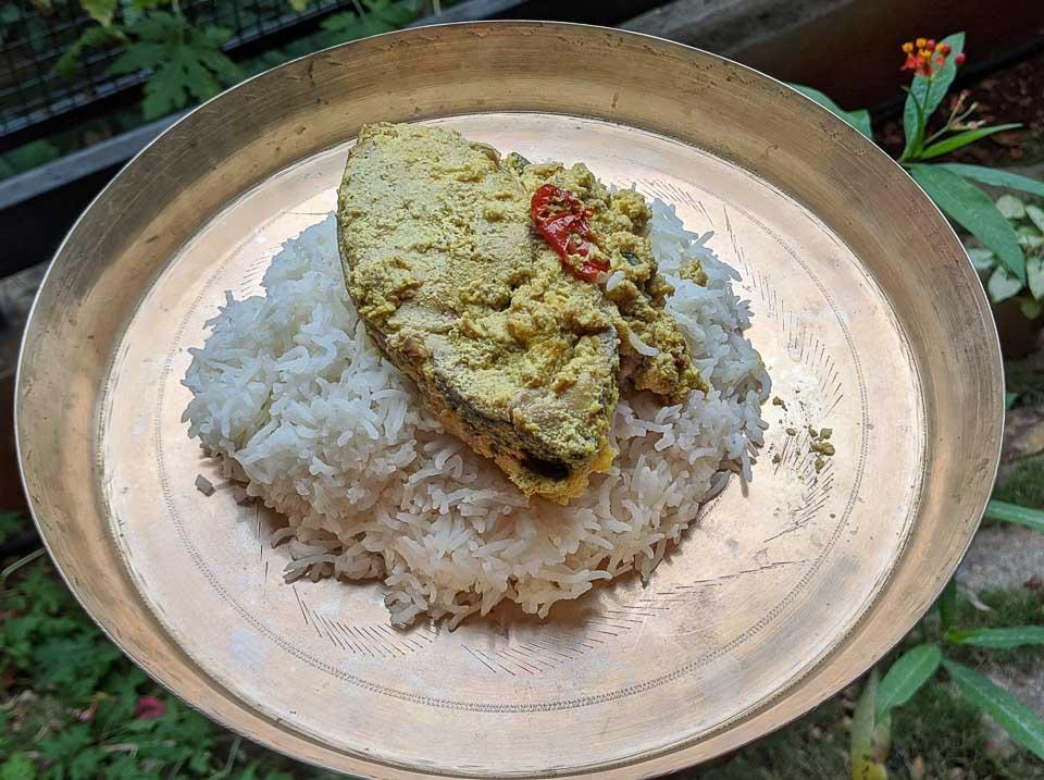 hilsa bhapa