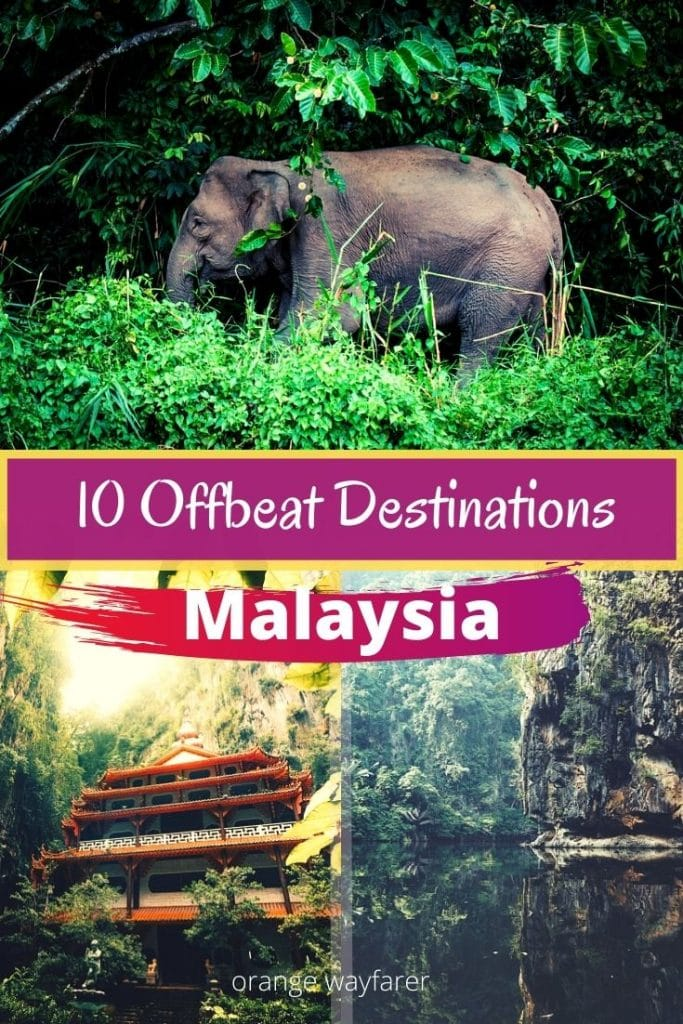 Offbeat destination in Malaysia that will blow your mind. alternate beautiful places to visit in Malaysia. Malaysia beyond Kuala Lumpur and Langkawi. beautiful places to visit in Malaysia for nature lovers. Malaysia is home to ancient rainforest where Orangutans live. #malaysia #offbeatplacestovisitinmalaysia #romanticdestinationsinmalaysia