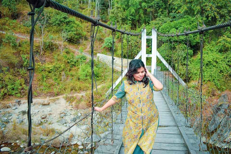 Small bridges over river Jia Bharali, Tawang