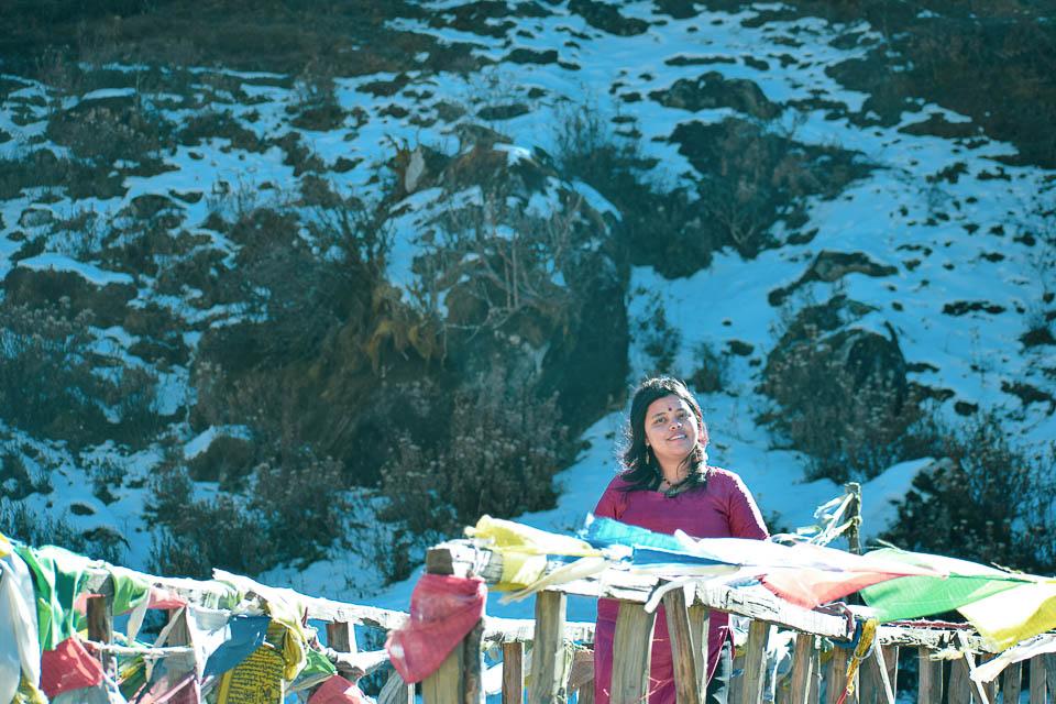Snow clad valley of Tawang
