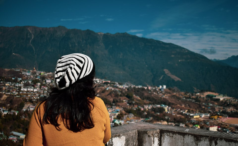 View of Tawang town as seen from the roof of Tawang Monastery