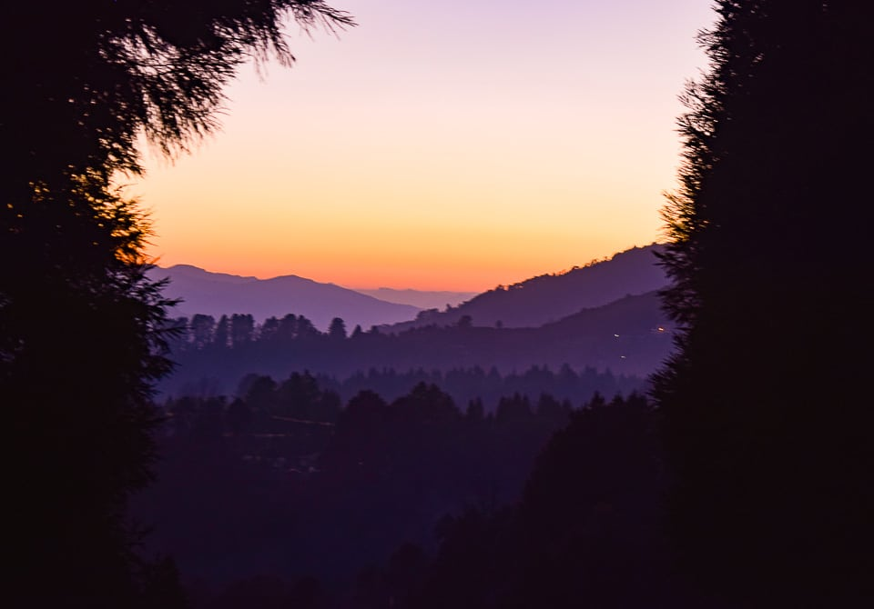 Sunset point at Tawang Arunachal Pradesh