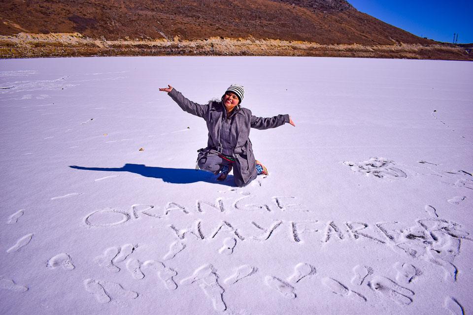 Sela Lake: Frozen in December
