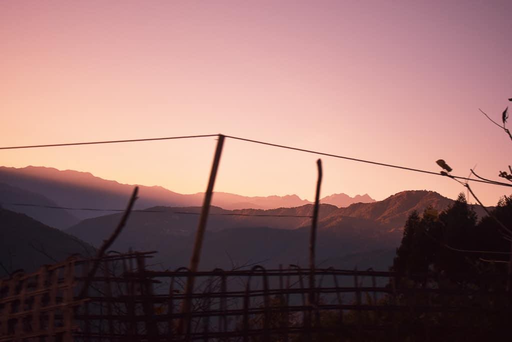 Sunset as seen from Bomdila