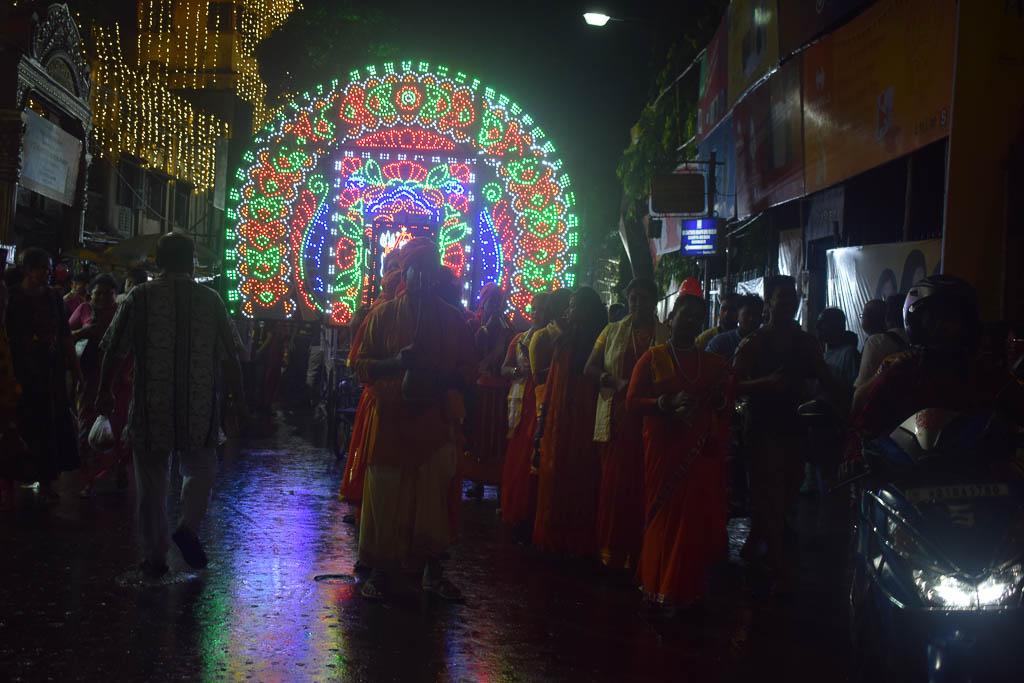 Durgapuja bhashan (idol immersion) in Kolkata at Bag bazar