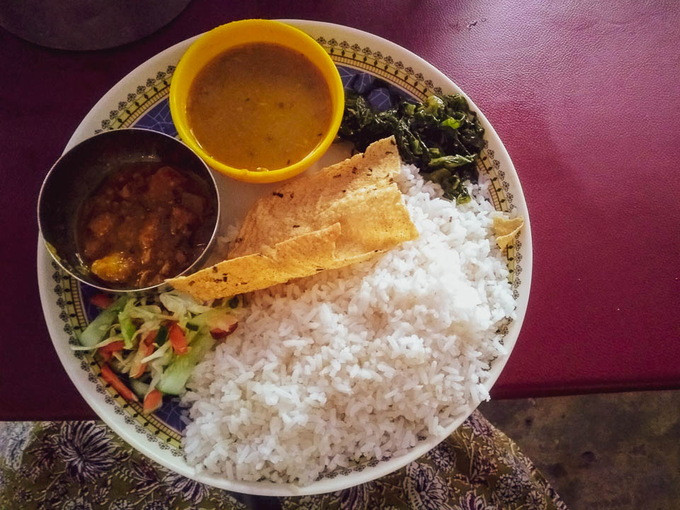 Local food served at the local Dhaba on the way to Tawang