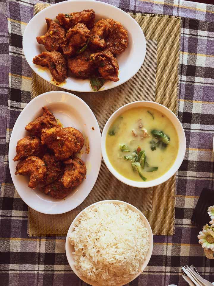 Local food served at Tawang market