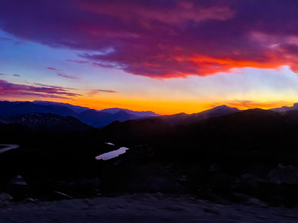 sunset on the way back from Bum la: a roadtrip from Tawang