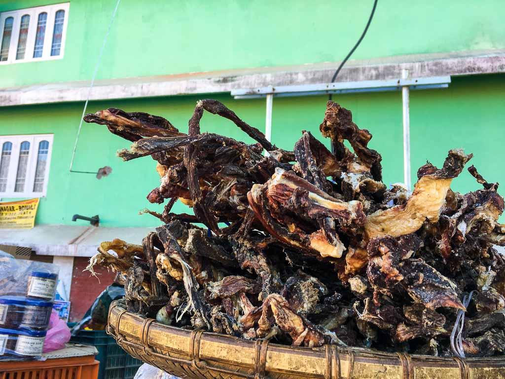 Yak Jerky: sold at Bomdila: Food of Monpa tribesmen