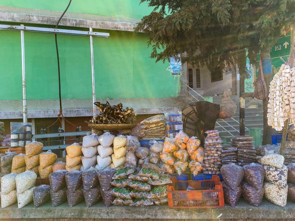 Local food and market of Tawang