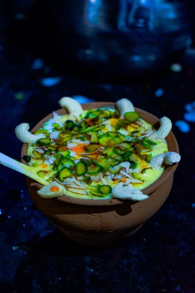 Ghats of Varanasi: Varanasi Travel Blog: Blue lassi served on Kulhad
