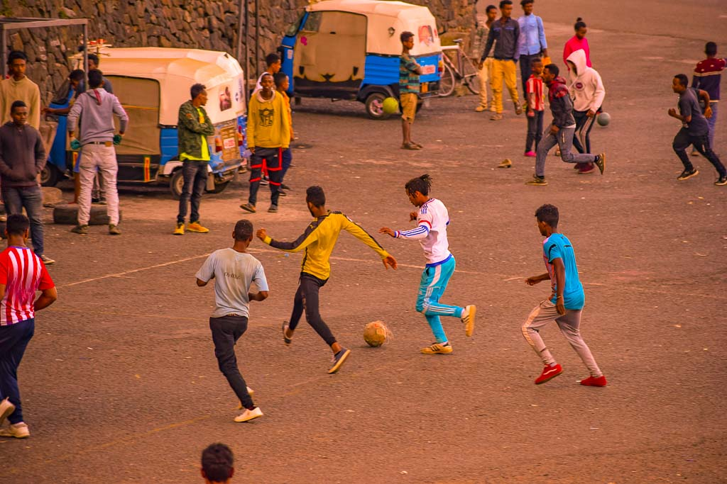 traveling in Ethiopia Photo blog: Sunday football in Gondar