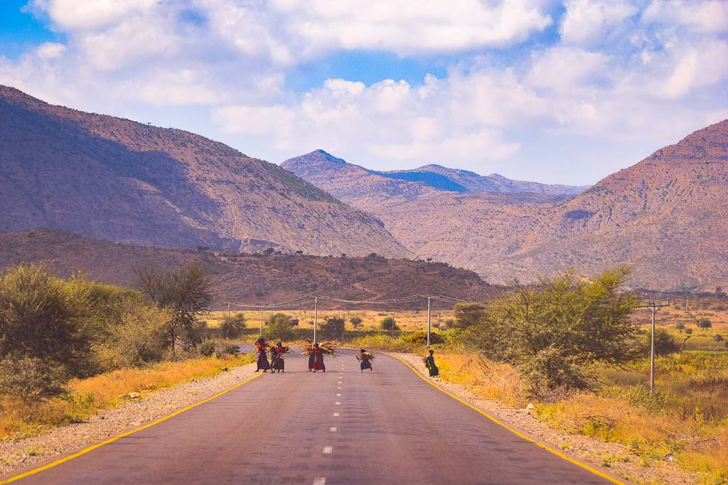 The ethiopian highlands near Danakil