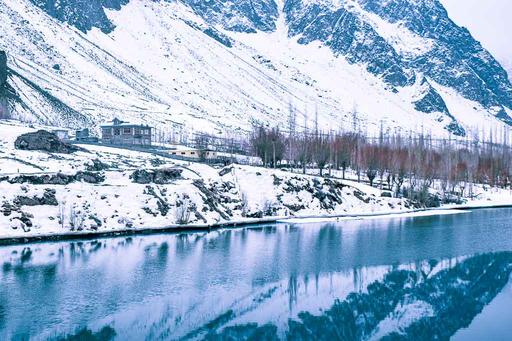 Suru river: natural beauty of Kargil during February