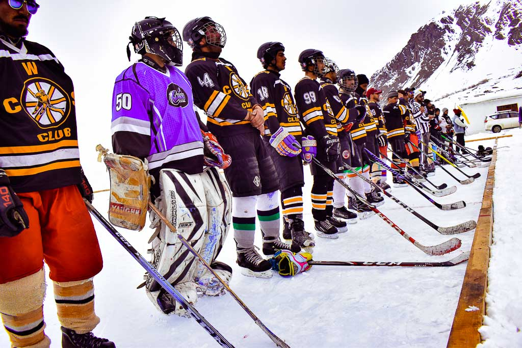 Winter sports in Kargil