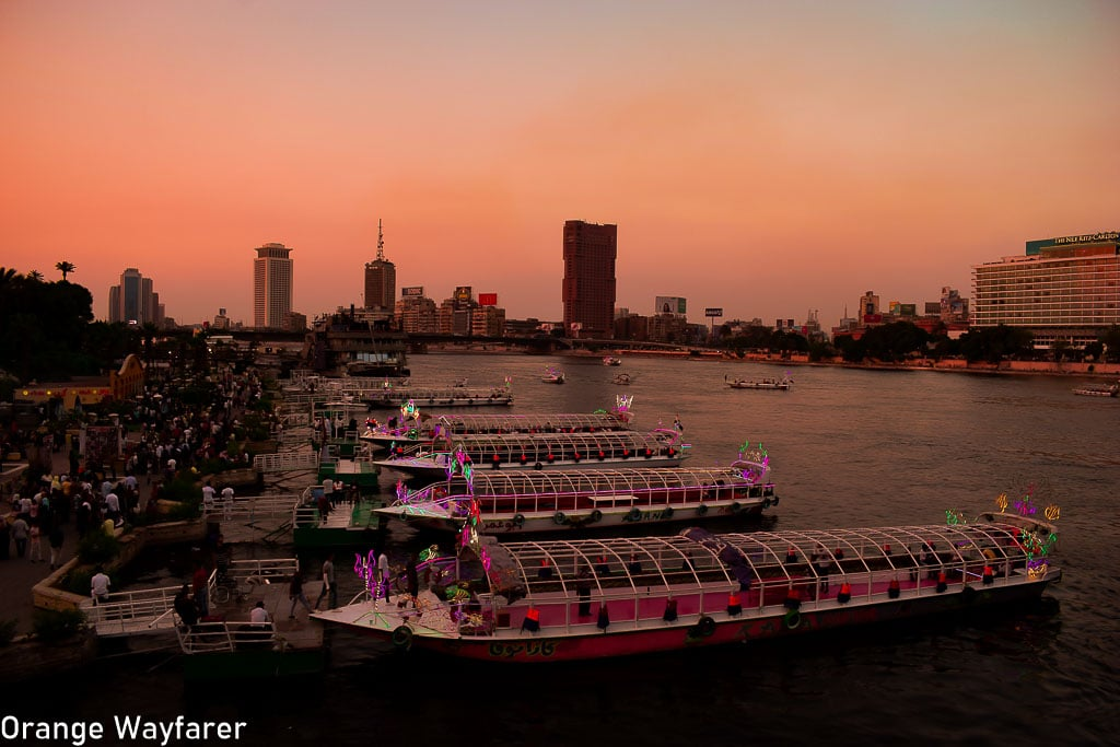 Sunset in Cairo on the Nile river: Egypt travel guide
