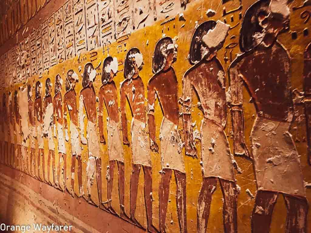 hieroglyphics on ancient Egyptian temple