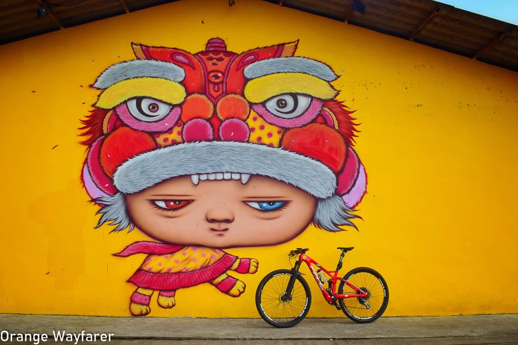 Alex Face wallart in Thailand (Old town takua pa)