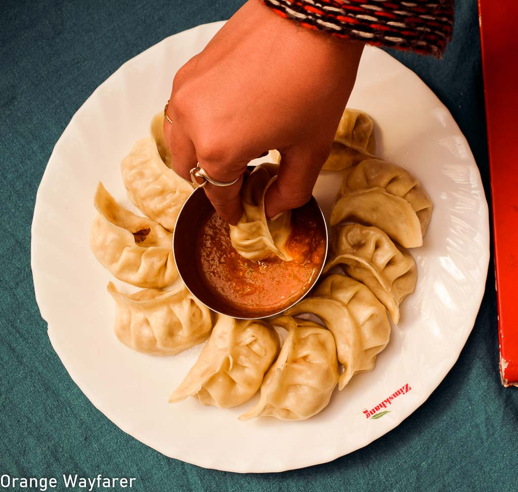 A plate of steamed lamb momo: Things to eat in Leh