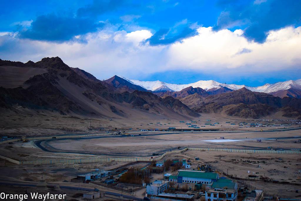 View of Leh airport: travel guide to Leh