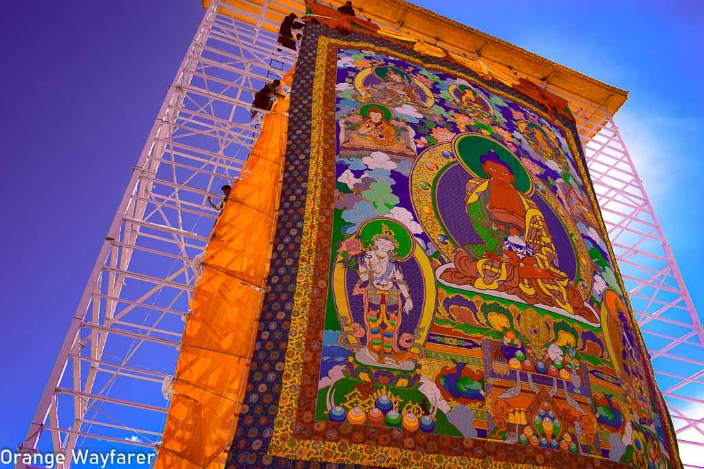Handpainted 16th century Thanka: Hemis Monastery in Ladakh
