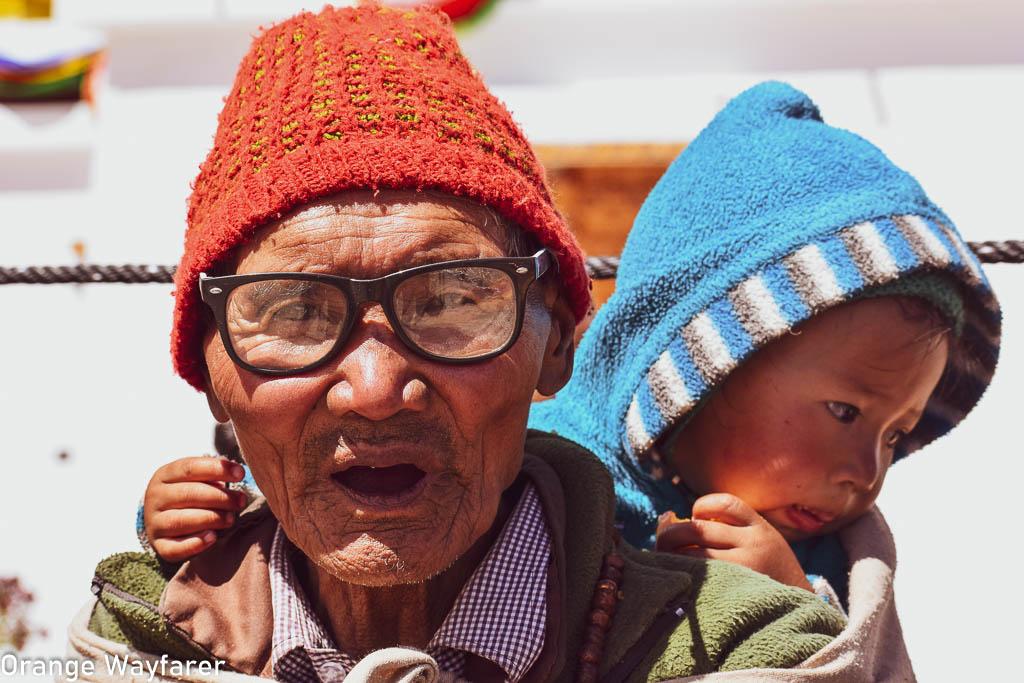 Portrait of Ladakhi old man during Naropa festival at Hemis monastery